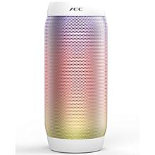 BQ-615 - Bluetooth Speaker HIFI PRO LED Lights NFC Mic FM Radio TF Card Slot - White
