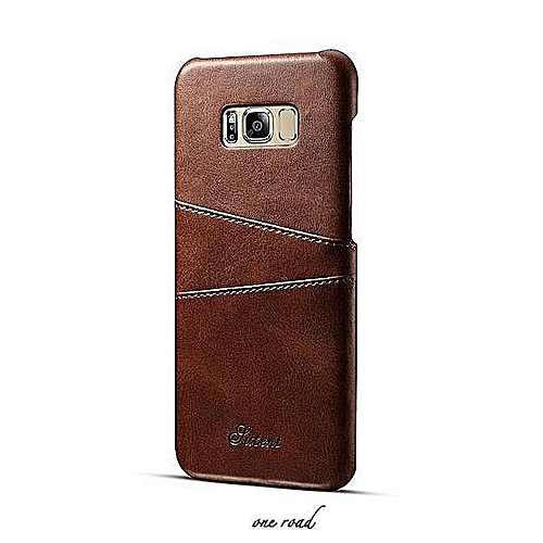 Samsung S9 Plus Deluxe Leather Cell Set, Samsung S9 Plus Cell Set With  Business Card Box, Cell Shell, Back Hard Set - Brown
