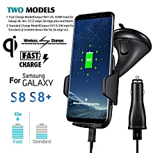 Qi Wireless Charger Dock Car Holder Charging Mount Pad For Samsung S8/S8 Plus