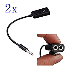 2pcs 3.5mm TRRS Stereo Audio Male To Earphone Headset + Microphone Adapter For IPhone