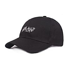 Men Women Summer Outdoor Embroidery Baseball Cap Adjustable Wide Brim Visor Hat