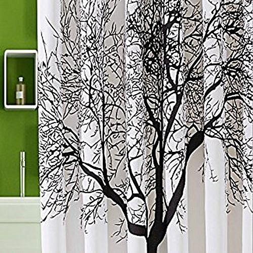 Elegant Home Decoration Mildew Resistant Shower Curtain Fabric 72x72 Tree Design Peva For Bathro