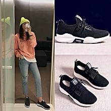 Spring And Summer Women's Sport Shoes Woven Shoes-Black