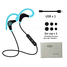 Wireless Headphones Bluetooth Running Earphones Sport Headphone Blue