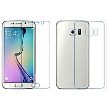 Case Front + Back Clear Film LCD Screen Protection For Samsung Galaxy S6 Edge-As Shown
