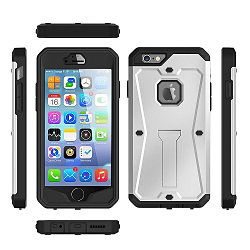 quality design a06f1 610fc Case For for iphone 6 / 6s Dustproof Water Resistant Advanced Shock  Absorption Protection With Kick-Stand Black