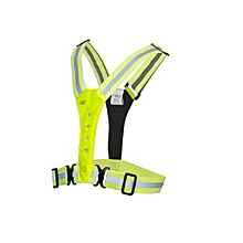 Led Flashing Running Cycling Sports Safety Vest - Green