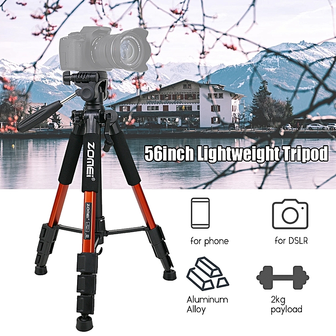 """... ZOMEI Q111 142cm/56"""" Lightweight Portable Aluminum Alloy Camera Travel Tripod with Quick Release ..."""