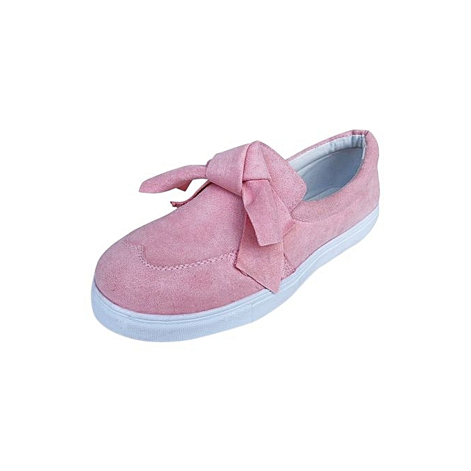 4d7d5222e52 Blicool Shoes Women s Ladies Shoes Flat Bowknot Slip On Sneakers Fashion  Girls Casual Shoes Pink