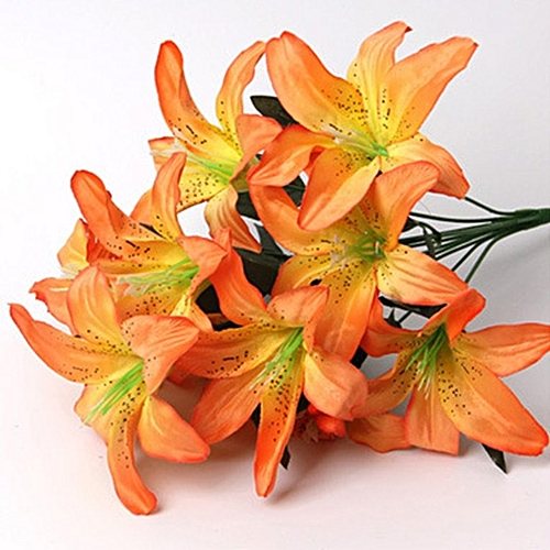 Generic European Artificial Silk Flower Heads Simulation Lily