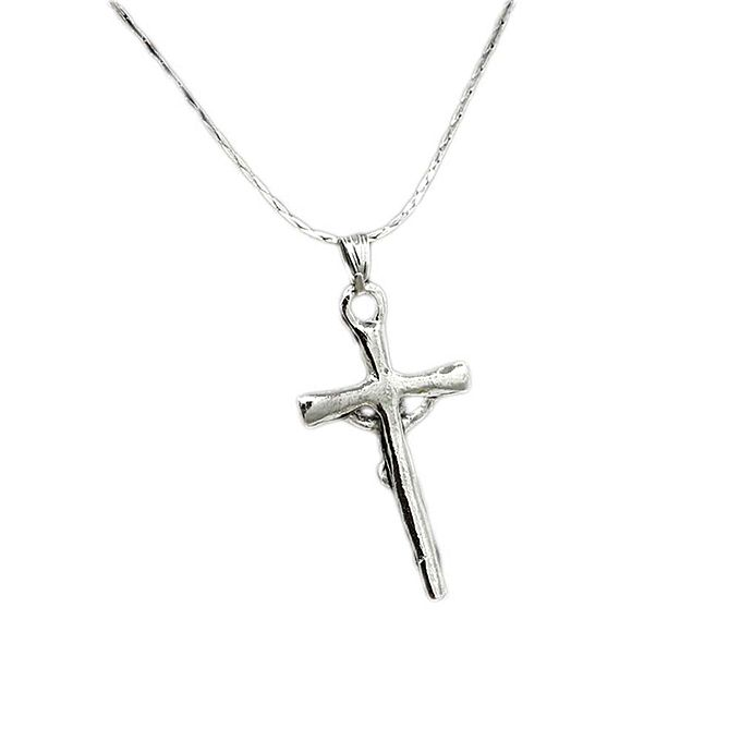 Fashion new jesus cross pendant necklace jewelry accessories new jesus cross pendant necklace jewelry accessories chainbone chain necklace mozeypictures Gallery