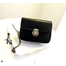 bluerdream-Women Leather Satchel Shoulder Crossbody Satchel Messenger Bag Black-Black