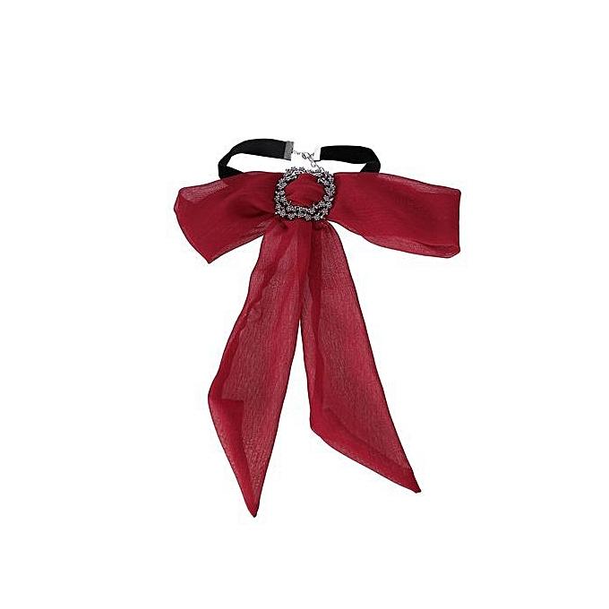 Fashion Women Bow Tie Chain Choker Statement Chunky Collar Pendant Necklace b576176a77
