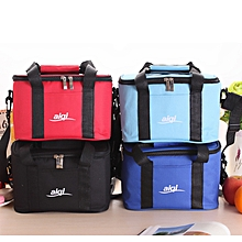 Large Capacity 600D Oxford Lunch Bag Tote Bag Cooler Insulated Handbag Zipper Storage Containers