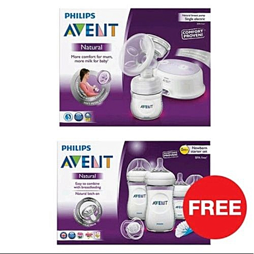 AVENT Electric Breast Pump & Free Newborn Starter Bottles