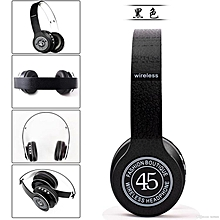 P45 Wireless Bluetooth Stereo Over-Ear Headphones Support TF Card FM Radio Headset