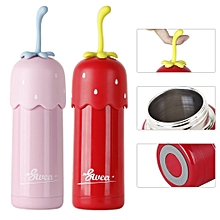 Strawberry Vacuum Cup 304 Stainless Steel Students Fruit Cup Portable 320ml