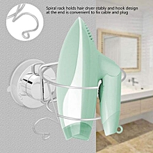 Stainless Steel Home Bathroom Suction Cup Wall Mounted Hair Dryer Holder Stand Hanging Rack