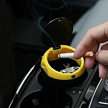 3R-2113 Universal Portable Car ABS Trash Rubbish Bin Ashtray(Yellow)