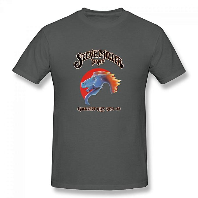 283a61d60 Generic Steve Miller Band Men's Cotton Short Sleeve Print T-shirt ...