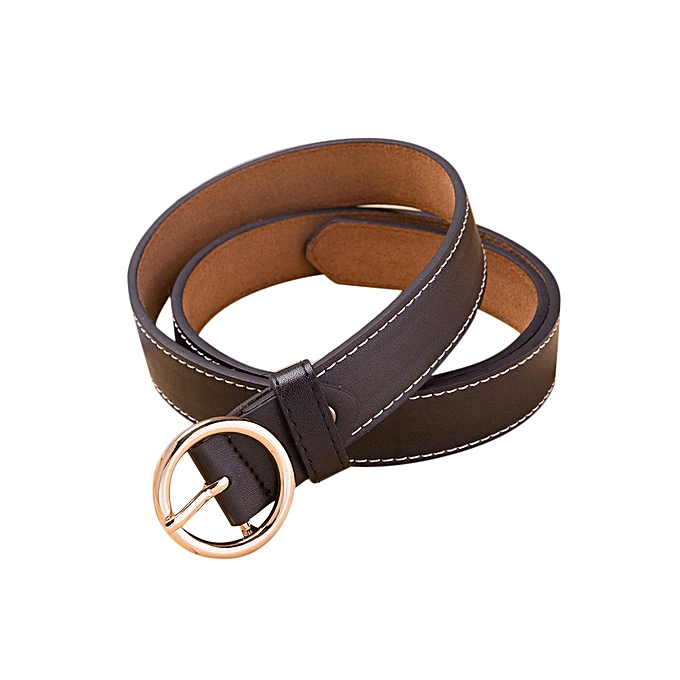 6d27d4e07b421 Fashion Women s Vintage Accessories Casual Thin Leisure Leather Belt