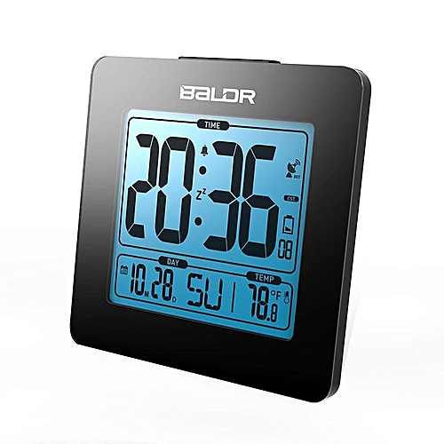 Baldr Atomic Digital Desk Alarm Clock Time Day Temperature Display Large Sceen