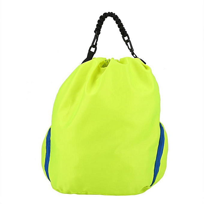 4a30dbbc34 Outdoor Nylon Rainproof Drawstring Backpack Pouch Holder Storage Bag (Green)