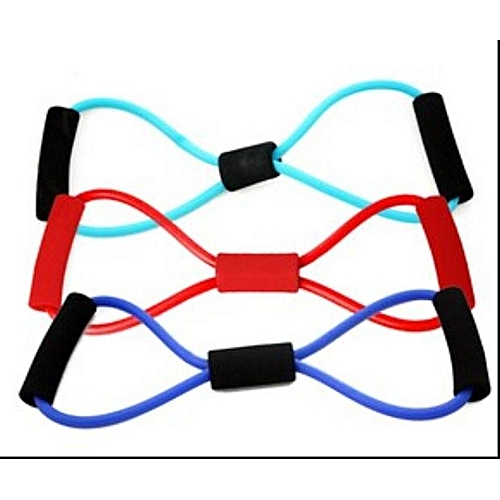 Universal Sports Fitness Yoga Resistance Band 8 Shape Pull Rope Tube
