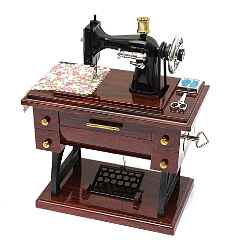 Buy Generic Vintage Creative Mini Sewing Machine Mechanical Music Classy Decor Mini Sewing Machine