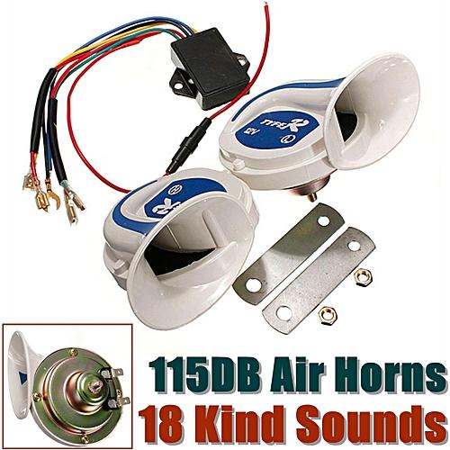 12V Electric Digital Siren Snail Loud 115DB Air Horns 18 Kind Sound Car Van  Boat