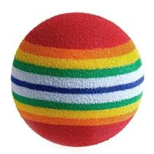 Hequeen 1Pcs Super Cute Rainbow Toy Ball Small Dog Cat Pet Eva Toys Golf Practice Balls MAR
