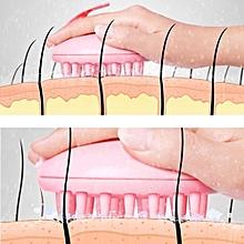 Scalp Massage Hairbrush Vibrating Silicone Comb Massager Electric Hair Brush