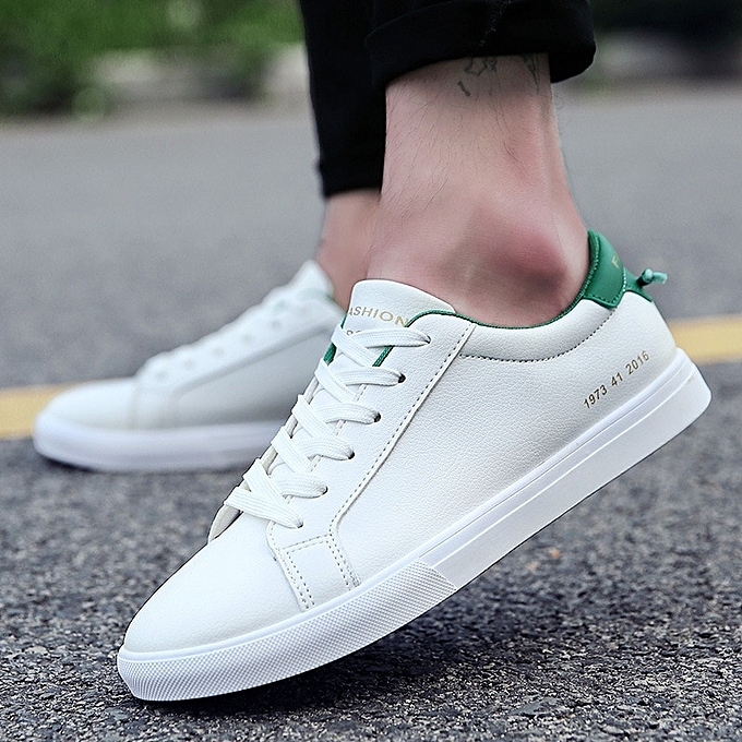 8e01ef6b1c497 Mens Canvas Shoes Men Flats Breathable Sneakers Fashion Brand Flat Shoes  Lace-up Mens Leisure White Shoes Walking Sneakers-green