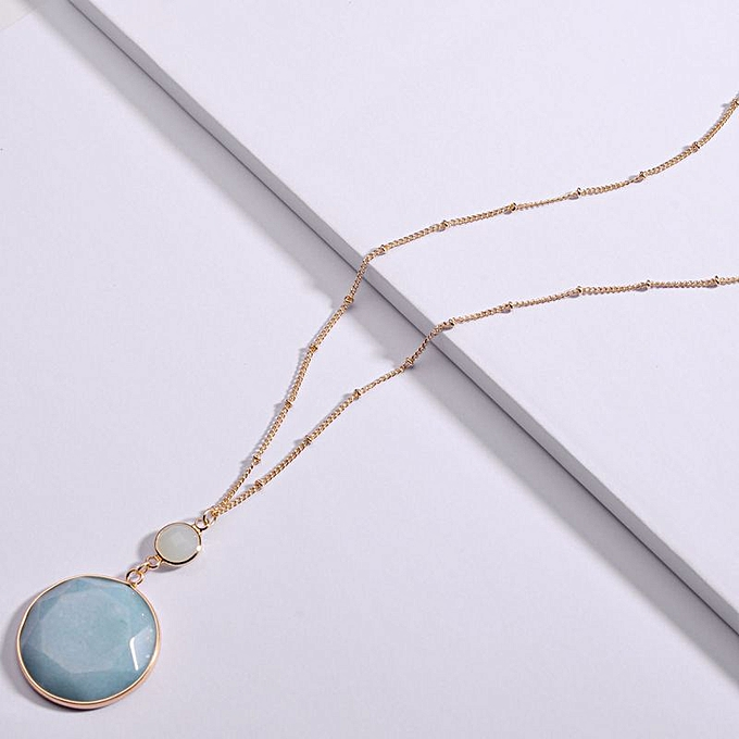 6f85cf20f184f Amazon-Qingdao national jewelry wrapped natural round stone Freshwater  Pearl Pendant Long Chain