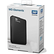 DIY 1TB External Hard Disk Drive with Cable - Black