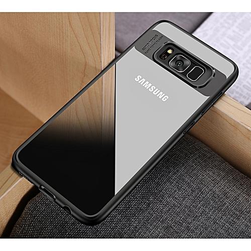 half off 0c892 64bad Hawkeye Slim Anti Slip Soft TPU + Crystal Clear Acrylic PC Transparent Back  Cover Case For Samsung Galaxy Galaxy J7 Prime / On 7 170692 (Black)
