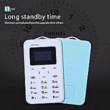 Mini Cell Phone Ultra Thin Student Mobile Phone Bluetooth FM Radio-black