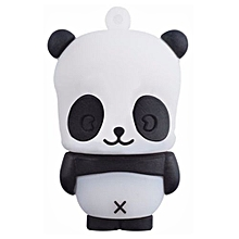 16GB Cute Panda USB Disk Flash Drive(Color:White)