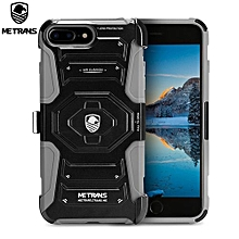 Three-piece Case Anti-knocking Anti-falling Cover For IPhone 7 Plus - Gray