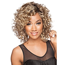 Short Afro Curly Hair Wigs For Black Woman Blonde Kinky Synthetic Wigs