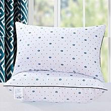 A Pair of Fiber Filled Bed Pillows