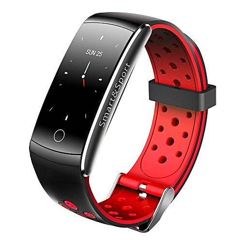 Intelligent Bracelet Measuring Heart Rate Pedometer Waterproof Sport Bracelet red