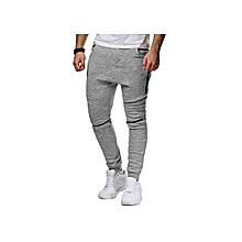 Mens Jogger Dance Sportwear Baggy Harem Pants Trousers Sweatpants (Grey)
