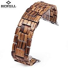 ZS - B01 24MM Wooden Watch Band Butterfly Clasp Wristband-Zebrawood-Zebrawood