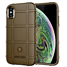 Full Coverage Shockproof TPU Case for iPhone XS Max(Brown)