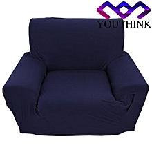 Single Sofa Slipcovers Anti-mite Soft Couch Slipcovers Navy Blue