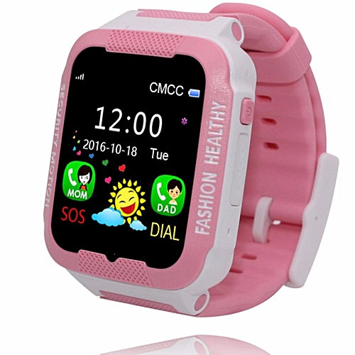 Childrens Smart Waterproof Watch Camera Positioning Anti-lost Call Wristband Silicone Strap Pink Purple Blue Childrens Sport Children's Watches
