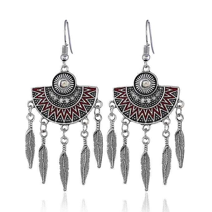 c150ba54c Fashion Jewelry Popular Leaf Hanging Designs Red Earrings For Women ...