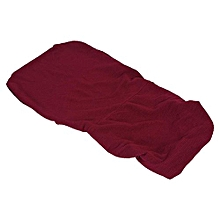 Removable Stretch Swivel Chair Covers Comfortable Slipcovers (Burgundy S)