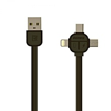 Remax RC-066th Lesu series 3 in 1 MicroUSB + Lightning Adaptor + Type-C Adapter Data Cable For iOS Device DIOKKC